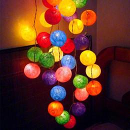 reti di albero Sconti Spedizione gratuita !!! 6cm 20 Balls Line Ball Light String Filato di cotone Decorazione di cerimonia nuziale Festa Festone Illuminazione Ramadan Decor Festival 1pcs # L26