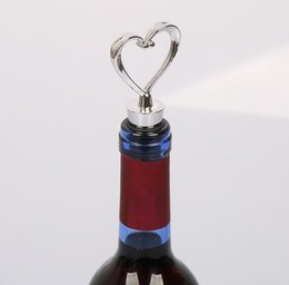 Canada Nouveau élégant en forme de coeur en plastique bouchon de vin bouteille bouchon mariage faveurs cadeau vente vente sur mesure logo cheap selling bottles Offre