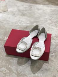 zapato de fondo plano único Rebajas Zapatos de mujer Hollow cabeza redonda Seda hebilla de fondo plano Boca baja hueca Moda casual Zapatos únicos