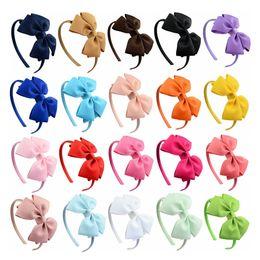 Argentina Diadema para niños Bow Head Band Nuevo Doble Yayer Bow Flor hecha a mano Head Band Bag Hairwear Wholesale cheap wholesale bagged flower head Suministro