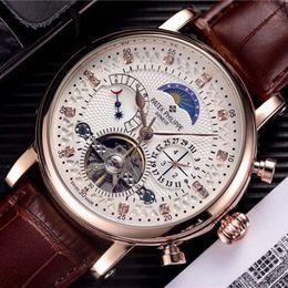 reloj deportivo cinético Rebajas Diseñador de moda de lujo reloj suizo Reloj de cuero Tourbillon Reloj automático para hombres Reloj de pulsera Mecánico de acero Relojes reloj relogio masculino