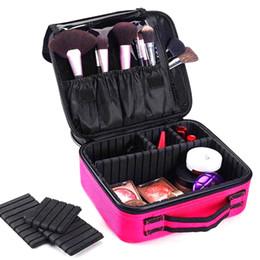 Trousse de maquillage de voyage en Ligne-Femmes Maquillage Sac Professionnel Portable Voyage Cosmétique Cas Organisateur Étanche Grand Maquillage Brosses Toilette Boîte De Rangement