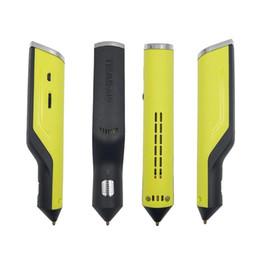 3d derreter on-line-Hot Melt Glue Gun Caneta 3D Doodler Magia Impressora 3D Caneta de Carregamento USB 6 Cor Cola em Varejo Embalagem