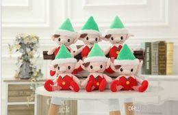2019 regalpuppe Christmas Santa Elf Plüschtiere 30cm Cute Christmas Spirit Puppe Elf Auf Regal Christmas Plüsch Puppe Stofftier Santa Deco Elfen Spielzeug KKA2188 günstig regalpuppe