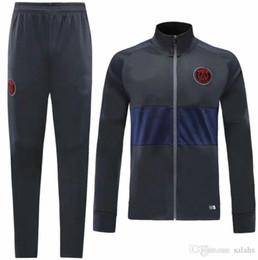 новый 19 20 мужчин зимняя куртка psg спортивный костюм синий серый пиджак и серые брюки для взрослых мужчин костюм обследование psg от