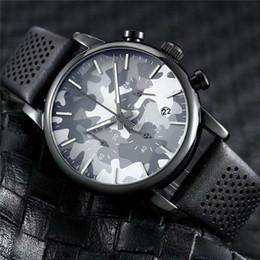 relógios de pulso Desconto Venda quente Clássico Da Marca de Quartzo Cinto De Couro 6 agulha 43 MM AR mostradores de Luxo Mens Relógios Designer De Negócios Homens vestido de Pulso