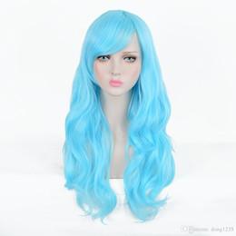 Nouvelle perruque Cosplay résistant à la chaleur Cos Ice Blue longue perruque frisée Livraison gratuite nouvelle haute qualité perruque de mode ? partir de fabricateur