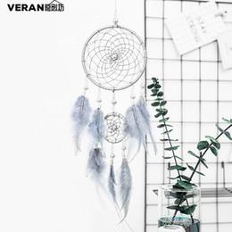 korea zuhause dekorationen Rabatt Fantasie Dekorationen Traumfänger Haushalt Fenster Wind Ornament DIY Fänger Retro American Feather Hand Made Dream Catcher