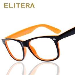 9376f45163b ELITERA fashion big glass frame without lenses round eye glasses frame for  women and men oculos de grau