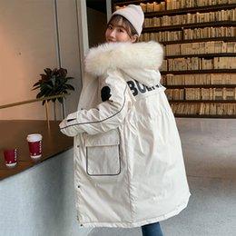 2019 abrigos de invierno de diseño coreano 2019 chaqueta de nuevo diseño caliente del invierno de las mujeres del estilo coreano femenino espesan la capa larga de las señoras Parka abrigos de invierno de diseño coreano baratos