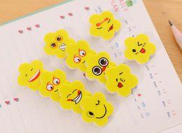 Moda Borrachas Práticas Para Estudante Borracha Lápis Forma de Flor Amarela Padrão Emoji Suprimentos de Papelaria Venda Quente de Fornecedores de pizza crianças