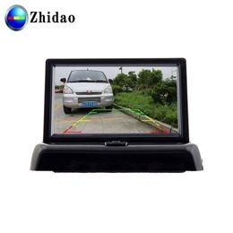Zhidao câmera de visão traseira withi cego 4.3 tela de carro local visível invertendo carro DVR ajuda de Fornecedores de tempo escondido da câmera