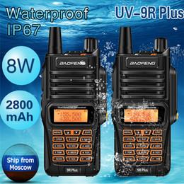 midland headset Rabatt 2ST Baofeng UV9R Plus-IP67 wasserdichte Walkie Talkie 8Watts Ham Tragbare CB-Funk Pofung 8W 10KM Long Range UV9R uv-5R-Radio