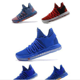 2ad7347f7e3080 Size45 Basketball Shoes Kevin Durant 10 All Star Black White BHM University  Red City Series Top Quality KD 10 Men Basketball Shoes Sneakers