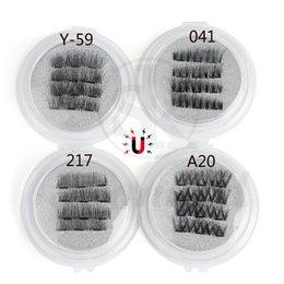 olho falso cílios conjunto completo Desconto 1 Conjunto de Cobertura Completa Triplo Magnético Cílios Postiços Macio Cruz Longo Handmade Ímã Eye Lashes Extensão Beleza Maquiagem Ferramentas