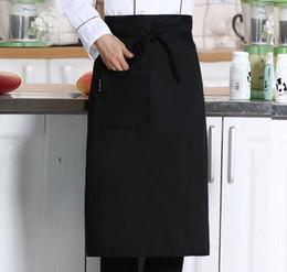 2019 cozinhar uniformes Metade da Cintura Avental para o Cozinheiro Café Café Garçom Garçonete Cozinha Cozinhar Hotel Chef Aventais Chef Uniformes Cintura Avental cozinhar uniformes barato