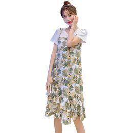 vestiti per l'allattamento Sconti 2019 estate nuova moda chiffon allattamento floreale abiti dolce irregolare allattamento al seno vestito postpartum donne vestito da allattamento carino