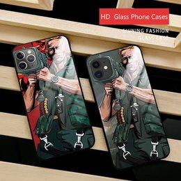 Estojos de telemóveis on-line-Para casos de telefone IPhone 11Pro Max Schwarzenegger 6 7 8 Plus Carry canhão de vidro temperado TPU Borda suave Gota XS Max XR tampa móvel