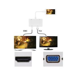 av cavo hdmi vga Sconti Adattatore AV VGA da Lightning a HDMI, Adattatore AV VGA da iPhone a HDMI Cavo convertitore per iPhone iPod iPad Seleziona