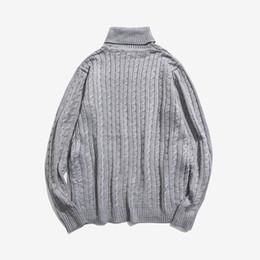 9ebc236d8 2019 pullovers de lã homens 2019 Outono dos homens de Malha Camisola de  Gola Alta Pullovers