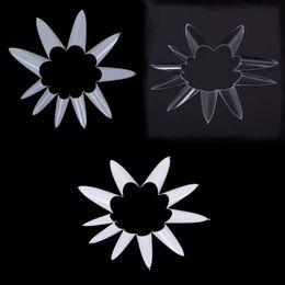 Canada 1 sac / 500 pièces Stiletto Point Forme Naturel Blanc Acrylique Français Faux Ongles Gel UV DIY Conseils Ongles Offre