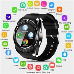 Telefone m2 on-line-V8 SmartWatch Bluetooth relógio inteligente Watch Touchscreen com câmera / cartão SIM slot impermeável relógio inteligente DZ09 X6 VS M2 A1
