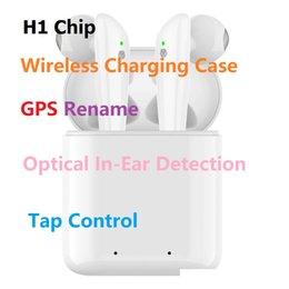 2019 boîte d'oreille couleur iphone Goophone gousses PRO Gen 3 Popup Supercloned H1 Puce Bluetooth Écouteurs Casque Tactile Contrôle vocal capteur valider Sn changement Bluetooth Nom