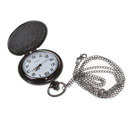 милые черные часы Скидка Уникальный Урожай Мужская Леди Аналоговые Карманные Часы Ожерелье Цепь Милый Подарок-Черный