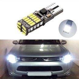2019 iluminación asx 1X T10 W5W 4014smd Luz LED de separación con lente de proyector Para mitsubishi asx lancer 9 10 pajero outlander l200 colt galant iluminación asx baratos