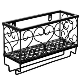 metal wine shelf Coupons - Small Storage Wine Rack Shelf Wrought Iron Wall Hanging Wine Rack Mounted Frame for Goblet kitchen Storage Holder Racks