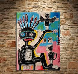 peintures de phénix Promotion Jean Michel Basquiat - # 54,1 Pièces Impression sur toile Peinture à l'huile murale Art à la maison Décoration (Sans cadre / Encadrée) 12X16