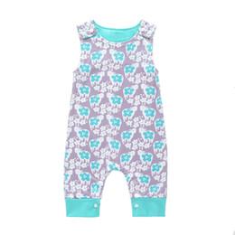18 trajes de bebe 24 meses online-Baby Print Mamelucos Múltiples Colores Niños Niñas Recién Nacido Bebé Ropa de Verano Traje de Juego 3-24 Meses