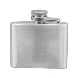 Alcool d'argento online-Flacone in acciaio inox 2 OZ Mini Hip Flask portatile Whisky Alcohol Pot Bottiglia d'argento per i viaggi all'aperto