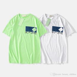 Argentina Venta caliente de verano Camiseta de lujo para hombres Ropa de diseñador OFF Camisetas 19ss Carta bordado Moda Camisetas Blancas de algodón Casual camiseta superior Europea Suministro