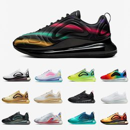 Marke frauen luft turnschuhe online-nike Air Max 720 airmax 720 shoes Mode Triple Black Metallic Platinum Laufschuhe Sea Forest Team Crimson Red Sonnenaufgang Sonnenuntergang Deep Blue Pink Sea Sports Sneakers 36-45