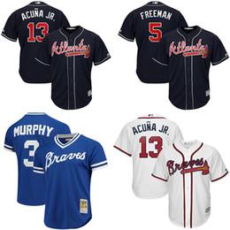 Atlanta Braves uomo Ronald Acuña Jr. Freddie Freeman Dale Murphy Mesh Batting Practice Swanson 2019 Cool Base Player Baseball Jersey da