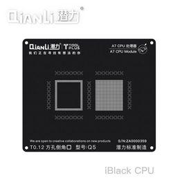 agujero negro de manzana Rebajas QIANLI Agujero cuadrado Plantación de estaño Malla de acero negro Posicionamiento 3D Manzana A7-A11 Tablero de plantación de estaño CPU universal T0.12