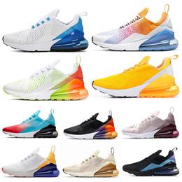Nike Air Max 270 Shoes Кроссовки для мужчин, женщин, тройных белых, черных воинов Habanero Red Throwback Future Mens Trainer Спортивные кроссовки 36-45 от Поставщики кд белое черное золото для низких