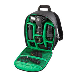 Trípode impermeable online-Bolsa de cámara DSLR a prueba de agua Mochila para Nikon Canon Cámara DSLR de Sony Cámaras sin espejo Flashes de lentes Trípode Otros accesorios