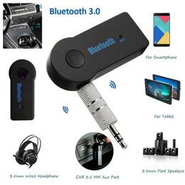2019 chamadas gratuitas pc 3.5mm AUX Sem Fio Bluetooth 3.0 Adaptador de Chamada de Mãos-livres Receptor de Música Do Carro Falante Sem Fio Fone De Ouvido Adaptador para Telefones PC Novo desconto chamadas gratuitas pc