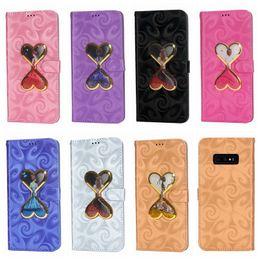 2019 tazas de purpurina 3D Funda de cuero en forma de corazón para Huawei P30 Pro Galaxy S10 Lite Plus Fashion Cup Quicksand Glitter Love Bling Liquid ID Sexy Lady cubierta rebajas tazas de purpurina