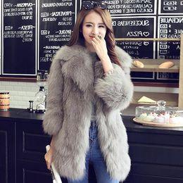 Nuovo stile Autunno Inverno Faux Fur Coats con cintura donna Slim bianco cappotto  di pelliccia giacca femminile faux gilet fourrure DF603 economico cintura  ... 965e068241e