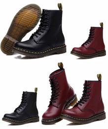 riviste di grossisti Sconti Hot saledesigner Stivali in vera pelle di alta qualità Dr. Martens Stivali alla caviglia Scarpe Scarpe stringate Uomo Donna Moda sport Vintage Martin Boot