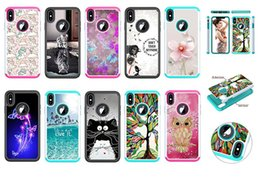 2019 casi di gufo Antiurto Totoro Owl Cat Flower Butterfly Hard PC + TPU Hybrid Armor Cover per iPhone XS MAX XR 6 7 8 iPod touch 7 S8 S9 S10 PLUS casi di gufo economici