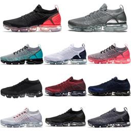 2019 Chaussures Moc 2 sin cordones zapatos para correr 2.0 Triple Diseñador Negro para hombre de las zapatillas de deporte de las mujeres de la mosca