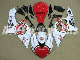 Benutzerdefinierte rennverkleidungen online-Neue ABS Motorrad Verkleidungssätze passen für Suzuki GSXR1000 1000 K5 GSX-R1000 2005 2006 05 06 Karosserie-Set benutzerdefinierte Verkleidung weiß rot Rennen