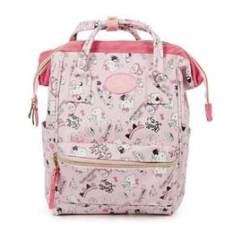olá kitty bolsas para crianças Desconto Nova hello kitty meninas pu escola sacos crianças crianças mochila