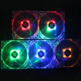 Broche de ventilateur d'ordinateur 12v en Ligne-Silencieux F12025 120mm LED Ventilateur Refroidisseur Transparent Boîtier PC Ventilateur Refroidissement 12V Desktop Connecteur 4 Broches pour PC Case