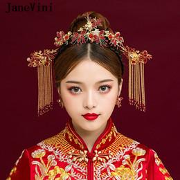 accessoire de cheveux rouge de mariage chinois Promotion