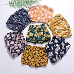 Wholesale Baby Girls Floral Print Pantalones de PP Verano Ropa de Boutique para niños Euro America Venta caliente Niñas Pantalones de Playa Delgada